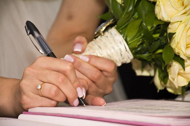 Signing Wedding Book