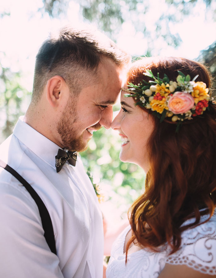 Young Newlywed Smiling